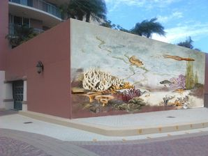 Coastal Outdoor Mural Painting in Fort Myers Beach